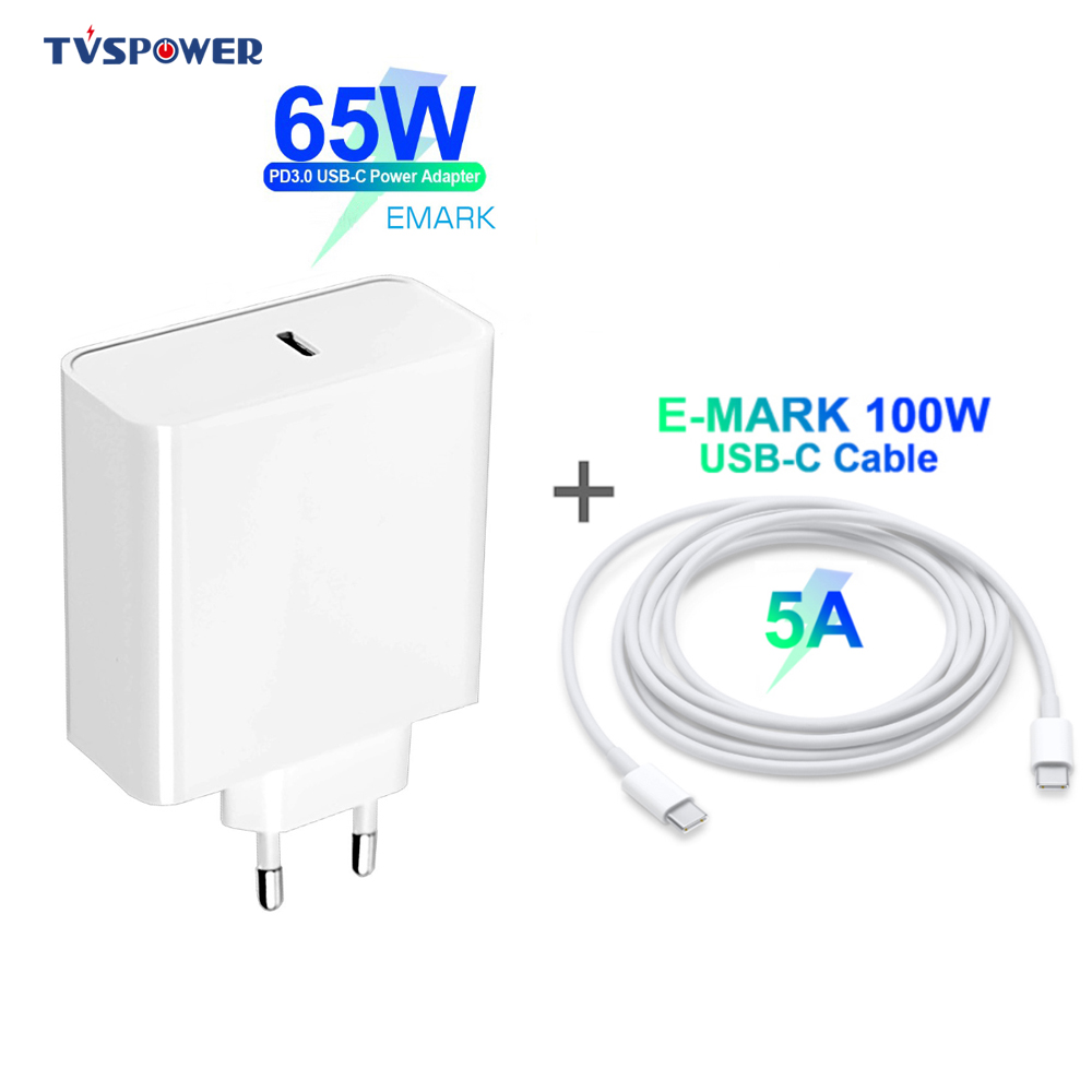 65 w 45 20 v 3.25a usb tipo c pd carregador rápido adaptador de alimentação compacta para macbook pro 13/lenovo/huawei/matebook/hp/dell xps