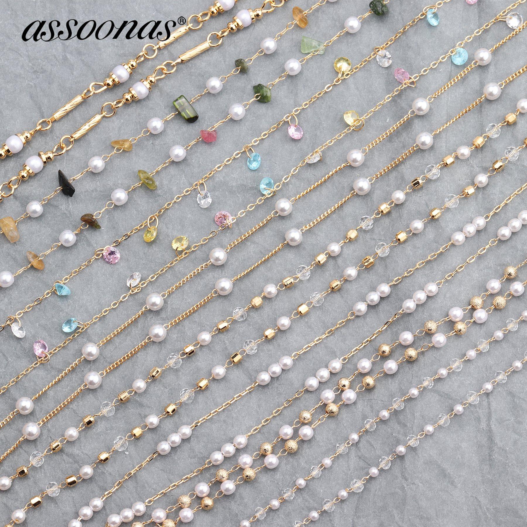 Assoonas C63,18K Gold Chain,diy Chain,jewelry Accessories,hand Made,jewelry Making,jewelry Findings,bracelet Necklace,1m/lot