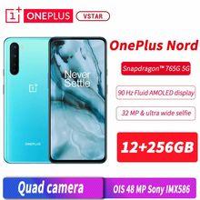 Versão global original oneplus nord 5g smartphone 6.44 polegada 90hz amoled 12gb ram 256gb rom snapdragon 765g núcleo octa android 10