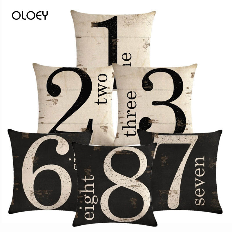 Square Polyester Black And White Digital Pillowcase For Home Bedroom And Hotel Decoration, Soft And Comfortable, Size 45 * 45cm.