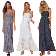 Long Maxi Bohemian Dresses Women Floral Vintage Long Robe Femme Boho Beach Vesti