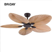 52 inch ceiling fan with remote control without light ceeling fans ventilator lamp bedroom decor Silent Motor Blades Palm Leaf