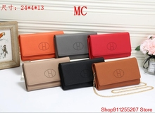 Luksusowy projektant marki Hermes portfel kobiet torebki czarny brązowy składany portfel zamek monety kiesy portfele H H01 tanie tanio Skóra Split FR (pochodzenie)