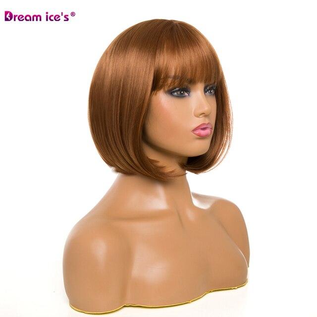 волосы из синтетического волокна женский короткий парик прямые фотография