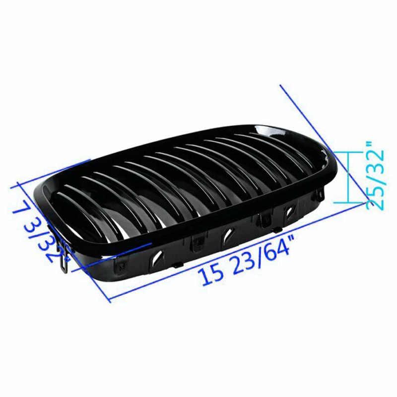 لسيارات BMW X5 E70 X6 E71 2008-2013 2 قطعة/المجموعة ABS الأسود الجبهة شبكات سيارة شبكة الرادياتير الأمامية اكسسوارات السيارات