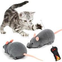 3 cores rc eletrônico ratos gato brinquedos controle remoto sem fio de pelúcia mouse engraçado interativo rato brinquedo para animais estimação gatinho gatos
