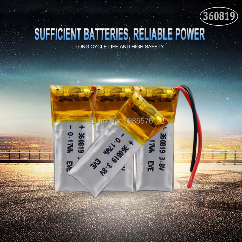 <font><b>3.7V</b></font> polymerized lithium <font><b>battery</b></font> 360819 <font><b>50MAH</b></font> Bluetooth headset MP3 MP4 Bluetooth small toys small audio image