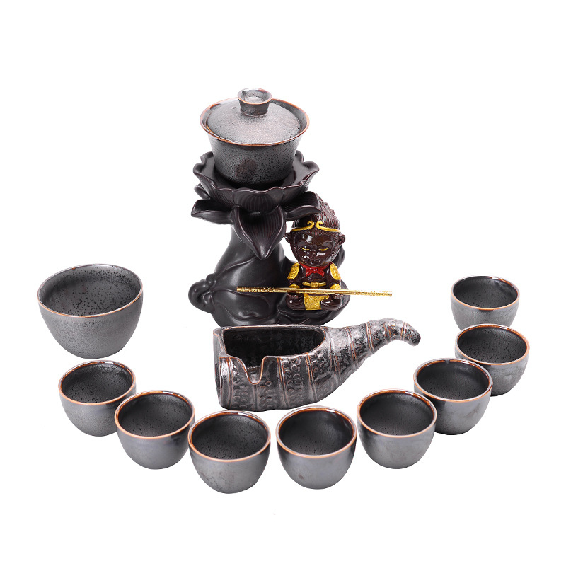 Originality Tureen Dawdler Automatic Ceramics Tea Set Suit Kungfu Online Teacup Business Affairs Gift Tea Set