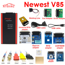 V85 Iprog+ Key Programmer Support IMMO + Mileage Correction + Airbag Reset Iprog Pro Till 2019 Replace Carprog with 7 adapter