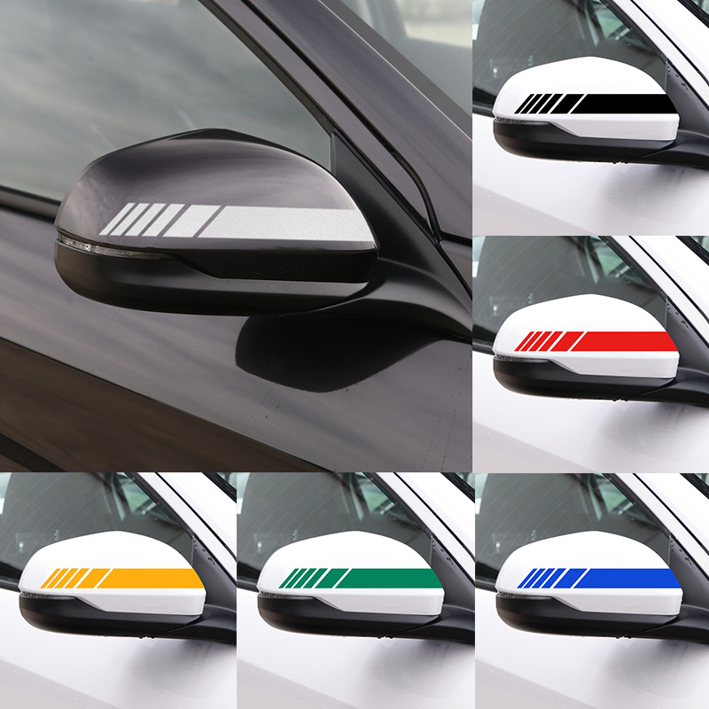 2pcs Car Rearview Mirror Reflective Stickers For Jaguar X-TYPE F-TYPE S-TYPE XE XF XJ XK XJR XFR XJS XJL Accessories Car Styling