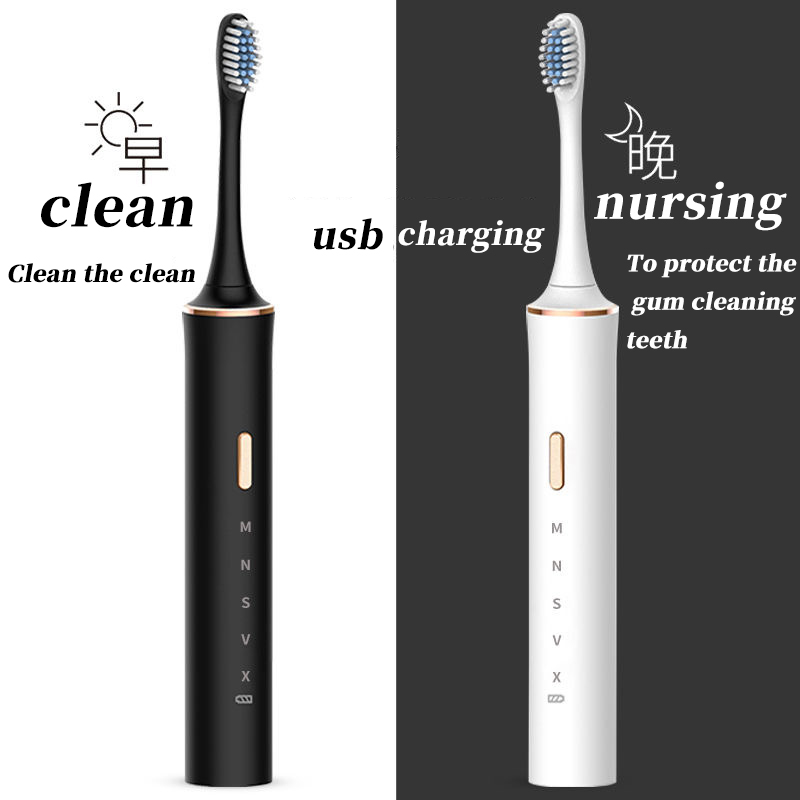 USB Rechargeable Tooth Brush Adult Electronic Washable Whitening Teeth Brush Powerful Ultrasonic Sonic Electric Toothbrush