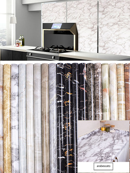 Modern waterproof marble desktop wallpaper 40cm * 1m / 60cm * 1m / living room furniture vinyl self adhesive contact stickers image