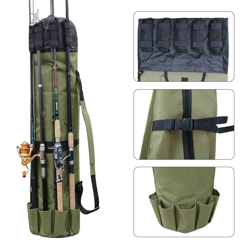 Shaddock Fishing Portable Multifunction Nylon Fishing Bags Fishing Rod Bag Case Fishing Tackle Tools Storage Bag-4