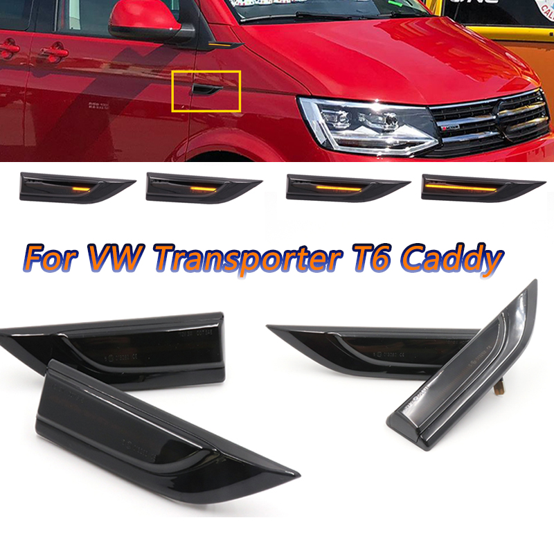 COOYIDOM 1Pair Dynamic Sequential LED Side Marker Turn signal <font><b>Light</b></font> For <font><b>VW</b></font> Transporter <font><b>T6</b></font> Caddy Indicator Repeater 2015 2017 image