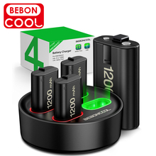 BEBONCOOL 4X1200 mAh for Xbox Series Wireless Gamepads Rechargeable Battery Pack for Xbox One/Xbox One X/Xbox One S Controller