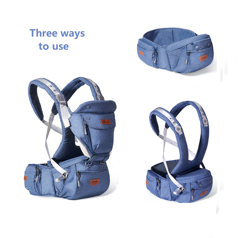 Sunveno Ergonomic Baby Carrier Baby Kangaroo Child Hip Seat Tool Baby Holder Sling Wrap Backpacks Baby Travel Activity Gear 6