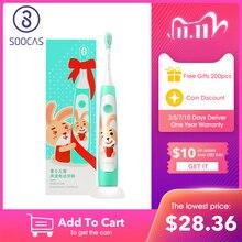 SOOCAS C1 çocuk Elektrikli Diş Fırçası Xiaomi Mijia Sonic Fırça Diş Çocuk Çocuk Otomatik Diş Fırçası USB Kablosuz Şarj