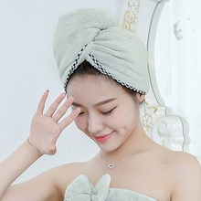 60X25CM Girls Lady'S Towel Microfibre After Shower Hair Drying Wrap Womens Quick