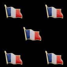5PCS Fashion Flag Badge Flag Pin France Waving Flag Lapel Pins Epoxy Medal Brooches Jewelry 5pcs panama souvenir epoxy multicolor waving national flag lapel pins and brooch fashion badge medal decorations