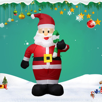 120cm Christmas Santa Claus Inflatable Doll Tree LED Light Santa Claus Christmas Decoration Gift Polyester EU/US New S24