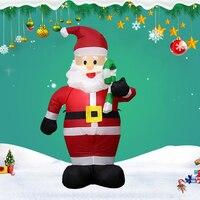 120cm Christmas Santa Claus Inflatable Doll Tree LED Light Santa Claus Christmas Decoration Gift Polyester EU/US New S24