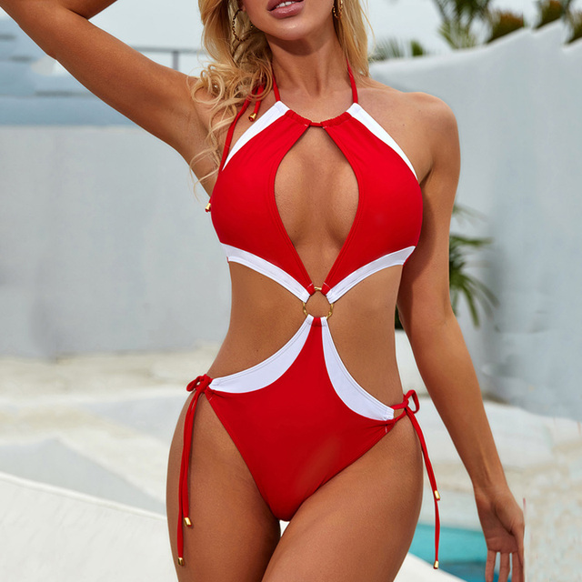 One Piece Swimsuit outter hip