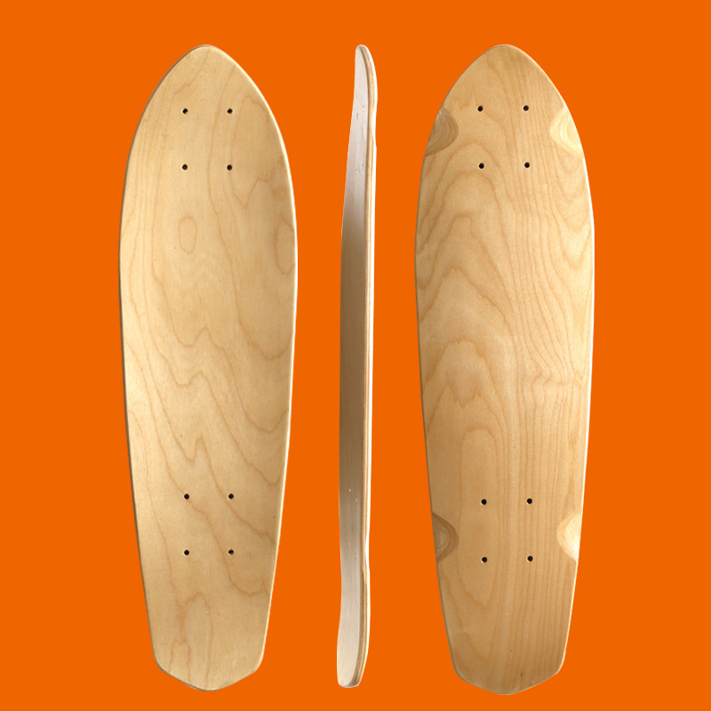 Maple Blank Skateboard Natural Wood Longboard Cruiser Board Skateboards Deck Double Concave Skate Single Rocker