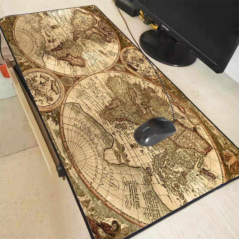 Xgz mapa do mundo grande tamanho gaming mouse pad anti-deslizamento de borracha computador computador mousepad mesa esteira de bloqueio borda para cs go lol dota
