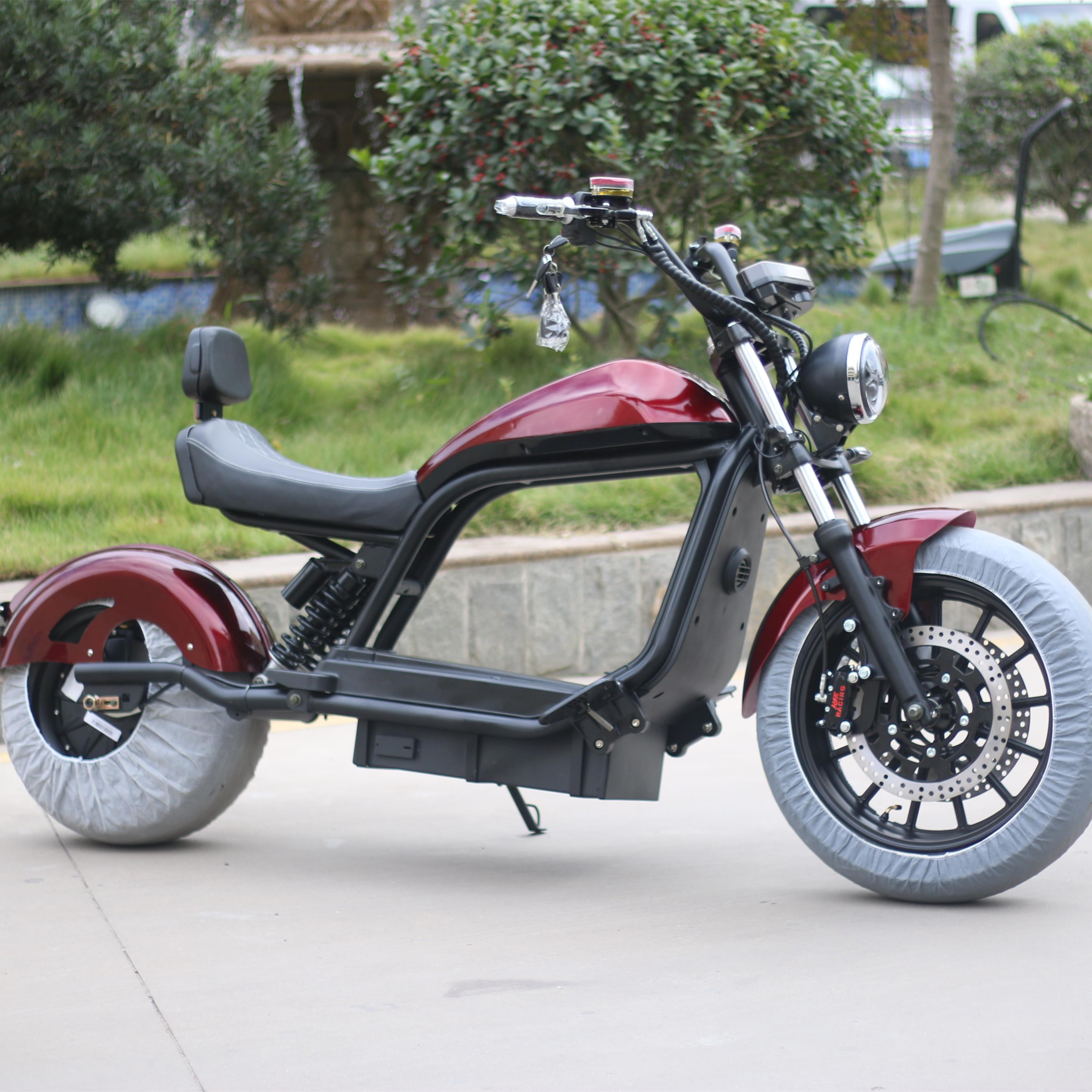 Электрические скутеры Citycoco с мотором мощностью 2000 Вт, электрический мотоцикл, скутер 60 в 20 Ач, двухместные электрические мотоциклы