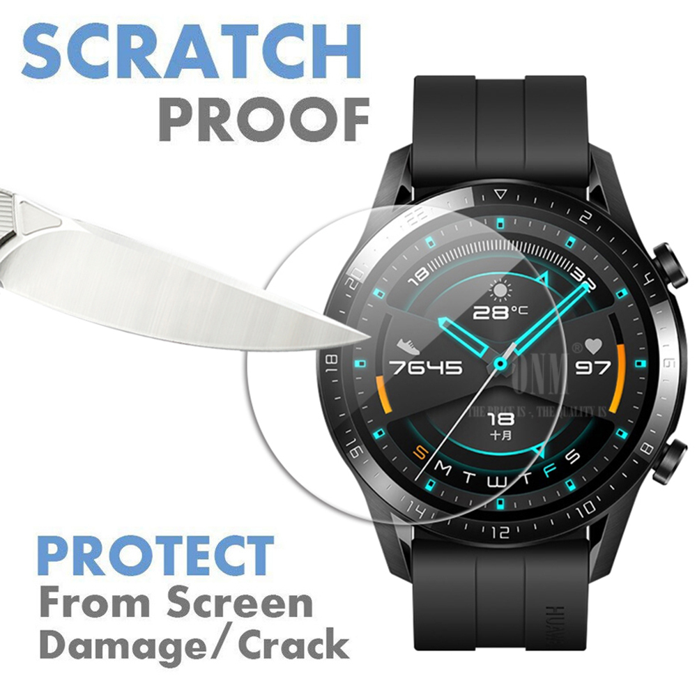 9H Premium Tempered Glass For Huawei Watch Gt GT 2 46mm Smartwatch Screen Protector Explosion-Proof Film Accessories