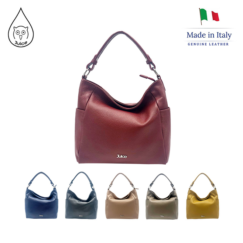 JUICE, Made In Italy, Genuine Leather, Women Bag,Shoulder Bags/cross Body,dollaro Leather 112051