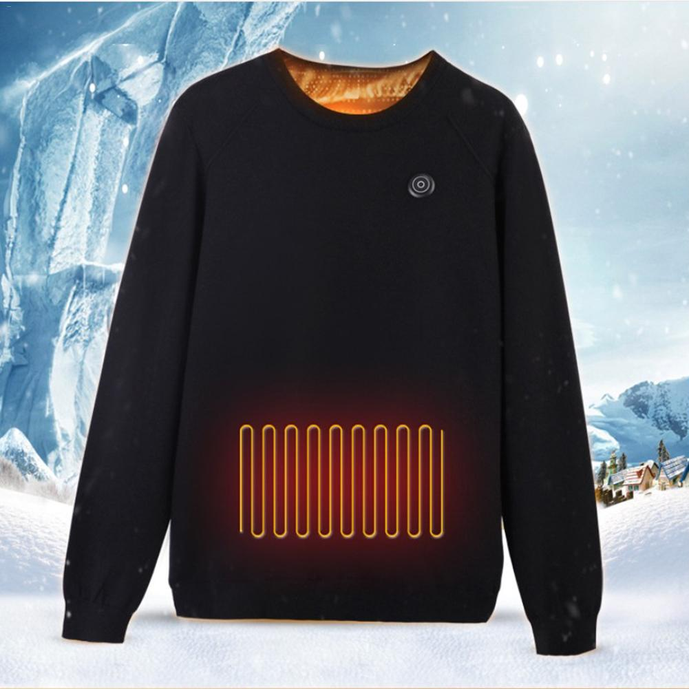 Thermal Clothes Intelligent Heating Sweater USB Electric Sweatshirt Warm Carbon Fiber Heated Jacket For Both Men And Women