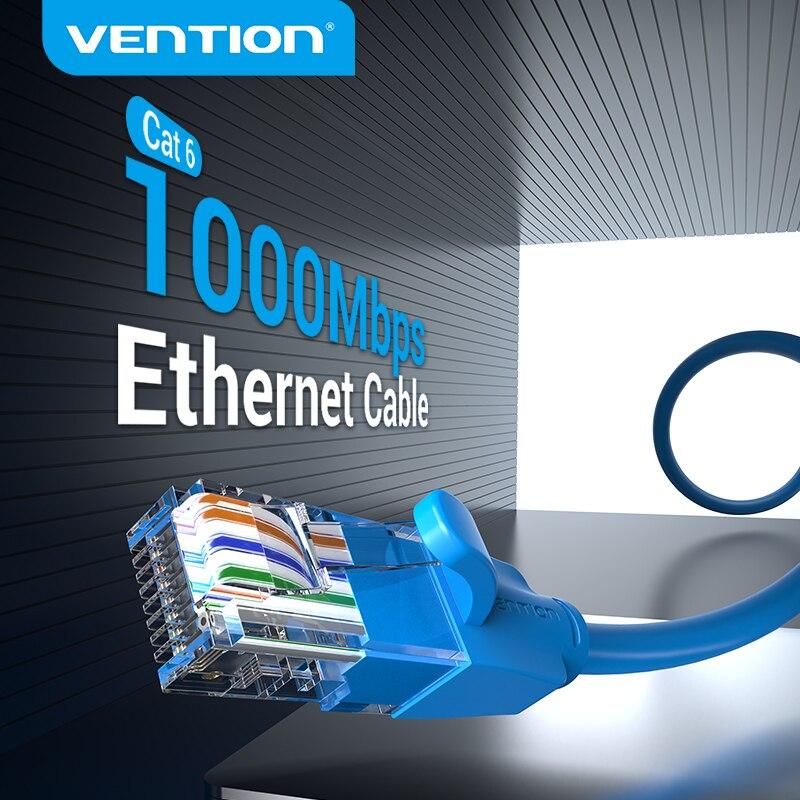 Câble Ethernet Vention Cat 6 câble réseau 4 paires torsadées cordon de raccordement Internet UTP Cat6 câble Lan pour routeur dordinateur portable Ethernet RJ45
