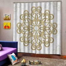 Занавески на заказ в белую полоску с металлическим узором, занавески для украшения, европейские 3D занавески для гостиной, затемненные, для спальни