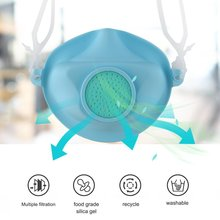Reusable Silicone Face Masks + 30 Filter Washable Proof