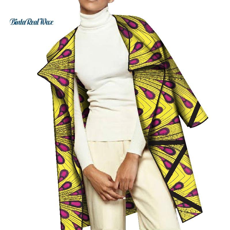 Mode printemps décontracté Trench manteau pour les femmes traditionnel africain impression Trench manteau Bazin Riche africain vêtements personnalisés WY2864