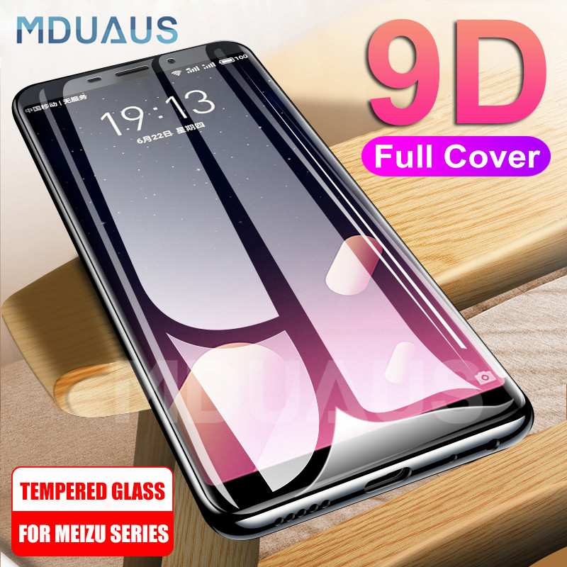 9D Full Cover Protective Glass On For Meizu M8 Lite M8 M6 M5 Note M6S M6T M5S M5C V8 Pro Tempered Screen Protector Glass Film