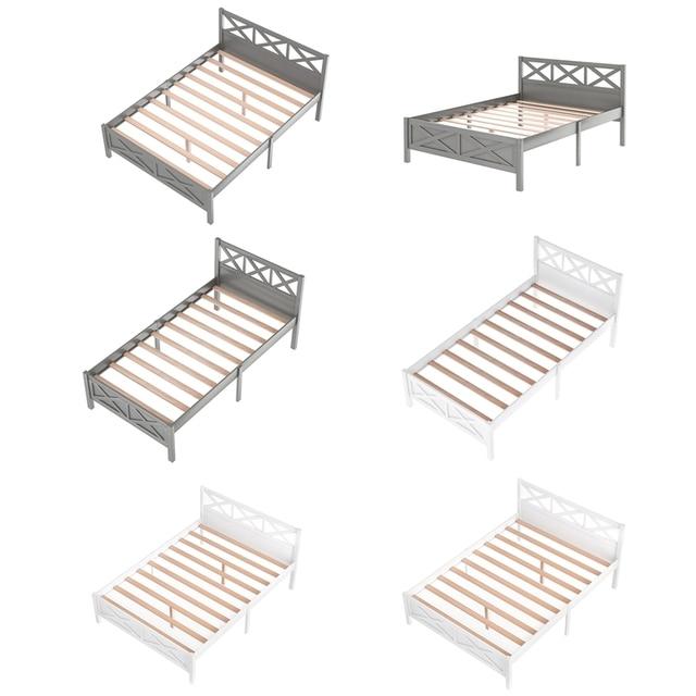 Queen Size Wooden Platform Bed 2