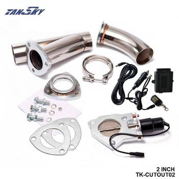 2 INCH EXHAUST CUTOUT ELECTRIC DUMP Y-PIPE CATBACK CAT BACK TURBO BYPASS STEEL For Chevy Chevrolet Camaro TK-CUTOUT02