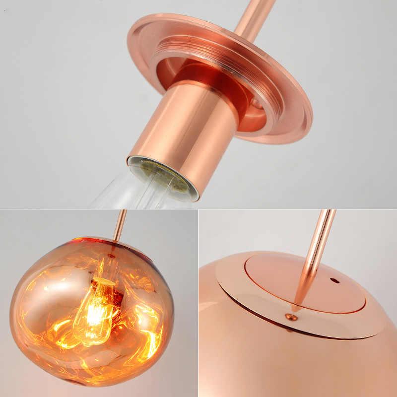 Скандинавские стеклянные светодиодные подвесные светильники расплавленный Лава блестящий хрустальный светильник для кухни промышленный подвесной светильник приспособление
