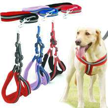 Dog Harness Vest Leash Reflcetive Breathable Mesh Pet Produts Adjustbale Night Walkding Leash Dog Collar for Medium Large Dogs