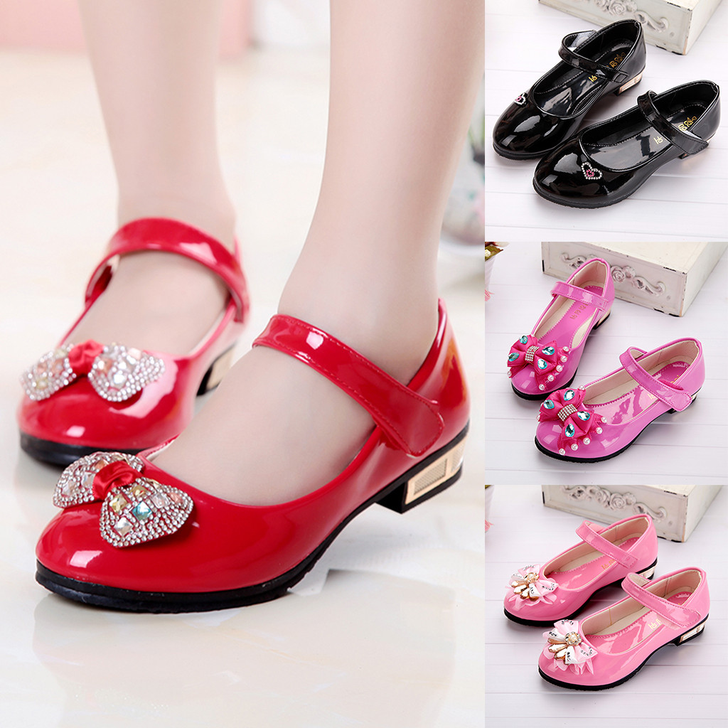 Infant Kids Baby Girls Crystal Bling Bowknot Single Princess Shoes Leisure Sandals Outdoor kids shoes Sapato Infantil New style