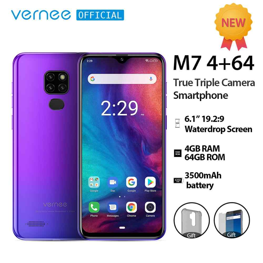 "Vernee M7 4GB RAM 64GB ROM Smartphone Android 9.0 6.1 ""ekran Waterdrop True Triple Camera Fingerprint face id 4G LTE telefon"