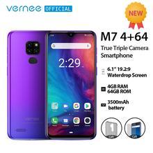 Vernee M7 4GB RAM 64GB ROM Smartphone Android 9 0 6 1 #8222 ekran Waterdrop True Triple Camera Fingerprint Face ID 4G LTE telefon tanie tanio Nie odpinany Rozpoznawania linii papilarnych Inne 13MP 3500 Adaptacyjne szybkie ładowanie Smartfony 5G Wi-Fi Bluetooth 5 0
