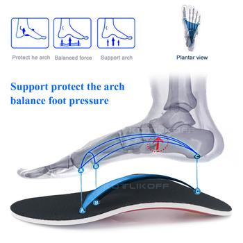 KOTLIKOFF Premium Orthotic Gel wysokie wkładki do butów wspierające łuk stopy podkładka żelowa 3D Arch wsparcie płaskostopie kobiety mężczyźni ortopedyczne ból stóp Unisex tanie i dobre opinie 1 cm-3 cm Średnie (b m) New orthopedic Insole Mesh Stałe Szybkoschnący Anti-śliskie Wytrzymałe Pot-chłonnym Szok-chłonnym