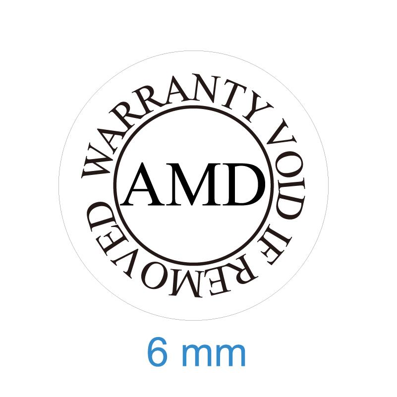 300 шт. гарантия на 6 мм Диаметр AMD аннулируется при снятии наклеек с печатью, артикул V44