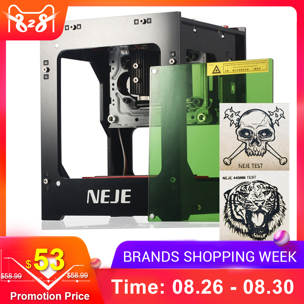 NEJE 1000mW Automatic DIY Print laser engraver High Speed mini USB Engraving Machine Off-line Operation with Protective Glasses zwbra shower curtain
