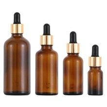 12pcs 1/2oz Empty amber Glass Dropper Bottles 1oz Transparent Oil Glass Piepette Dropper Container 5ml 10ml 20ml 30ml 50ml 100ml