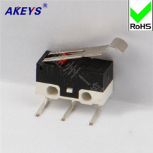 15PCS MS-010 Positive Direction 3 foot bend Foot micro Switch mouse switch rectangular pressure handle