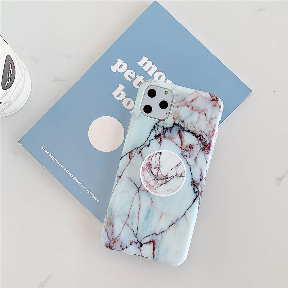 Luxury Marble Stand Phone Back Cover Shell For iPhone 11 Pro X XR XS Max 7 8 6 6S 20